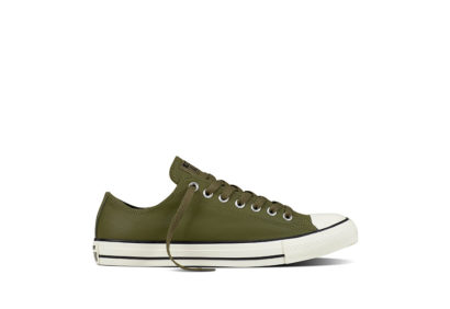 Unisex Chuck Taylor All Star Tumble Leather Medium Olive