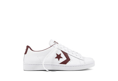 Unisex PL 76 Foudational Leather With Elevated Detailing White Bordeaux