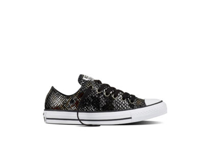 Women Chuck Taylor All Star Fashion Snake Black