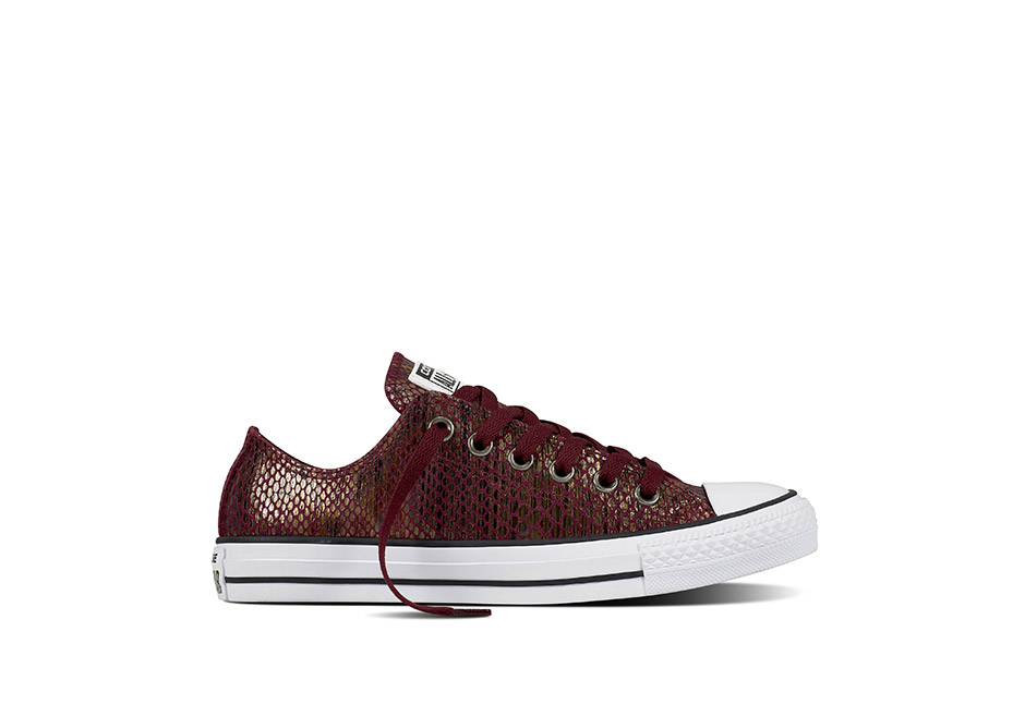 Women Chuck Taylor All Star Fashion Snake Dark Sangria