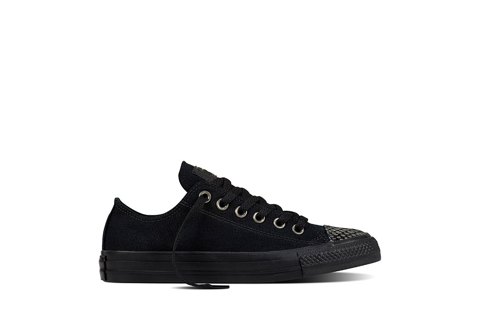 Women Chuck Taylor All Star Fashion Snake Toecap Black