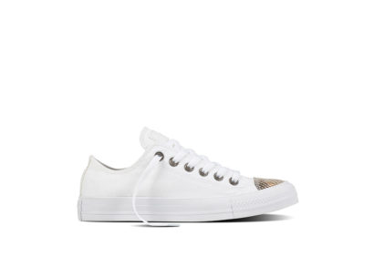 Women Chuck Taylor All Star Fashion Snake Toecap White