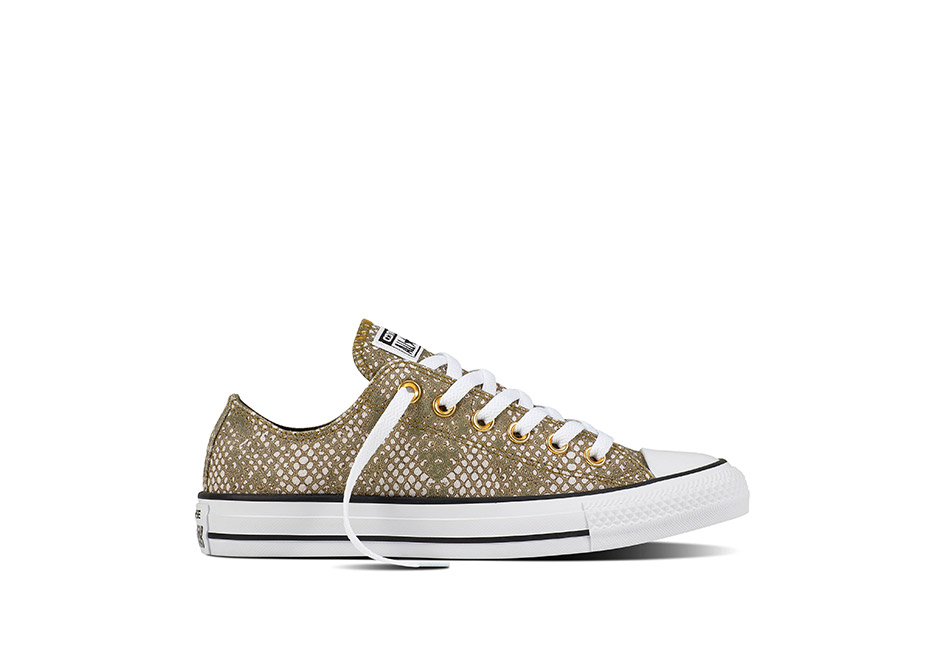 Women Chuck Taylor All Star Lurex Snake Pale Putty