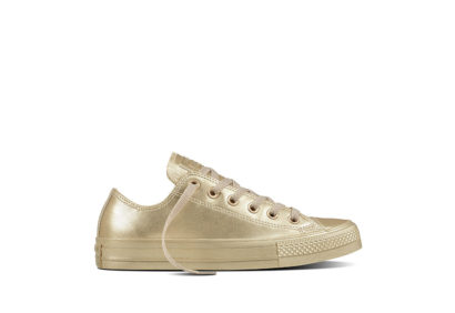 Women Chuck Taylor All Star Metallic Leather Gold