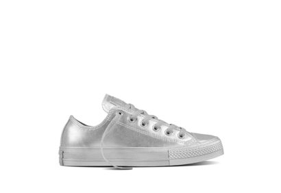 Women CTAS Metallic Leather Silver