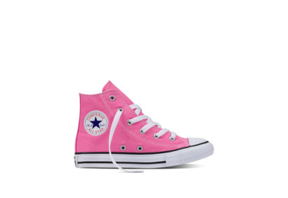 Youth Chuck Taylor All Star Core Hi Pink