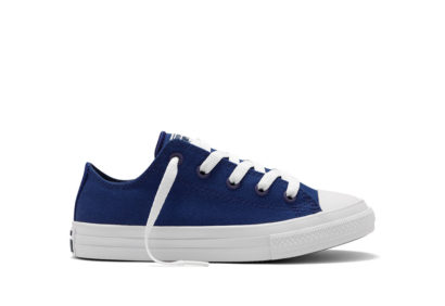 Youth Chuck II Core Ox Solid Blue
