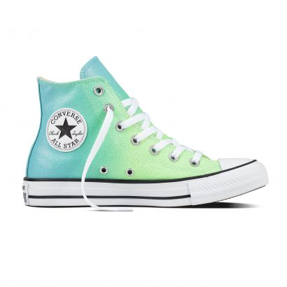 CHUCK TAYLOR ALL STAR OMBRE METALLIC, FASHION, HI, ILLUSION GREEN/BLEACHED AQUA