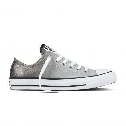 CHUCK TAYLOR ALL STAR OMBRE METALLIC, FASHION, OX, ASH GREY/BLACK/WHITE