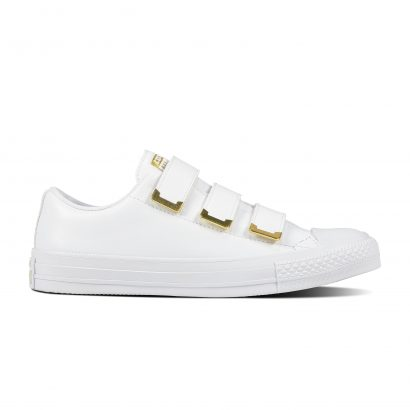 CHUCK TAYLOR ALL STAR 3V SL + HARDWARE, FASHION, OX, WHITE/WHITE/GOLD