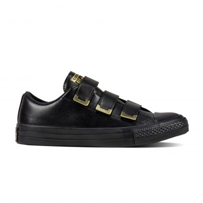 CHUCK TAYLOR ALL STAR 3V SL + HARDWARE, FASHION, OX, BLACK/BLACK/GOLD