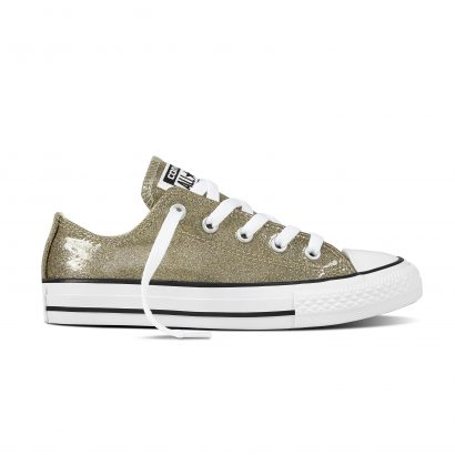 CHUCK TAYLOR ALL STAR SEALL STARONAL GLITTER, FASHION, OX, GOLD/NATURAL/WHITE