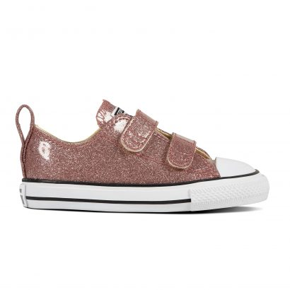 CHUCK TAYLOR ALL STAR V SEALL STARONAL GLITTER, FASHION, OX, ROSE GOLD/NATURAL/WHITE
