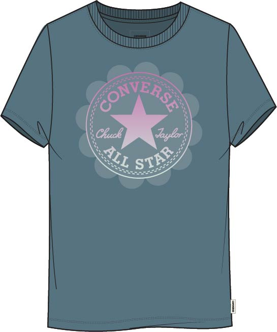 CONVERSE OMBRE CHUCK PATCH SHORT SLEEVE TEE