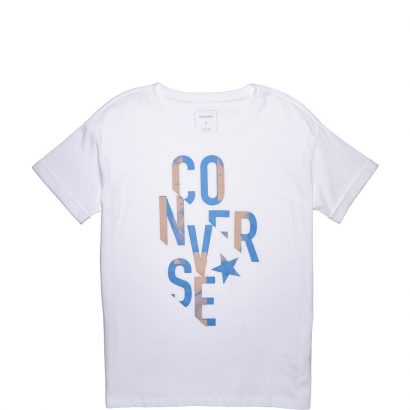 W Typography Fill Easy Crw Tee
