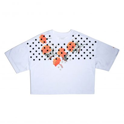 SEASONAL ILLUSTRATION CROPPED BOXY TEE