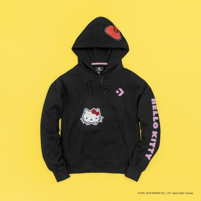 CONVERSE X HELLO KITTY OVERSIZED PULLOVER HOODIE