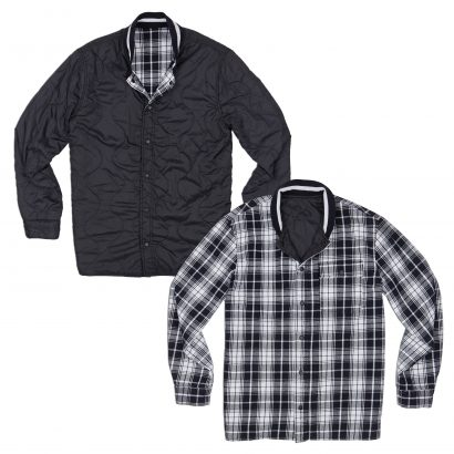 CONVERSE QUILTED FLANNEL SHIRT – BLACK/MASON