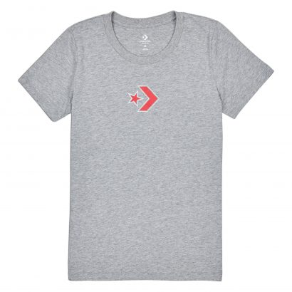 CONVERSE STAR CHEVRON CREW TEE – VINTAGE GREY HEATHER
