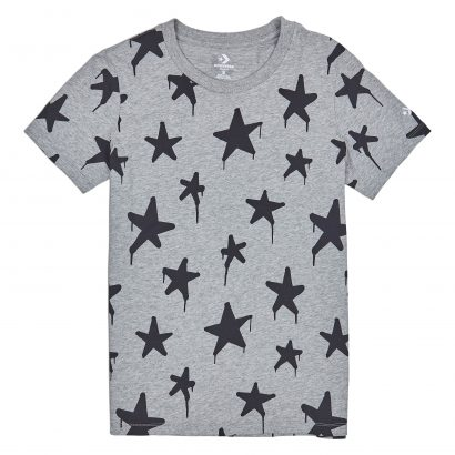 CONVERSE GRAFFITI STAR CREW TEE – VINTAGE GREY HEATHER MULTI