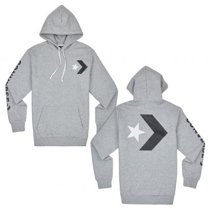 CONVERSE STAR CHEVRON PULLOVER HOODIE SLIM FIT – VINTAGE GREY HEATHER