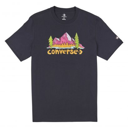 CONVERSE ILLUSTRATED MOUNTAIN SHORT SLEEVE TEE – BLACK
