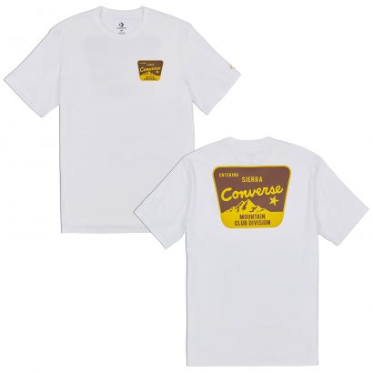 CONVERSE MOUTAIN REC SHORT SLEEVE TEE – WHITE