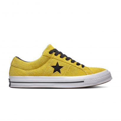ONE STAR DARK STAR VINTAGE SUEDE BOLD CITRON/BLACK/WHITE