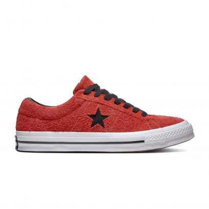 ONE STAR DARK STAR VINTAGE SUEDE ENAMEL RED/BLACK/WHITE