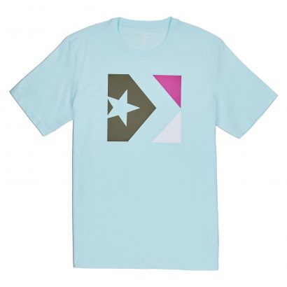 CONVERSE STAR CHEVRON BOX TEE – TEAL TINT
