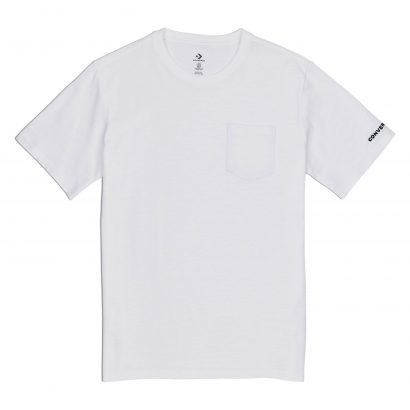 CONVERSE EMBROIDERED WORDMARK TEE – WHITE