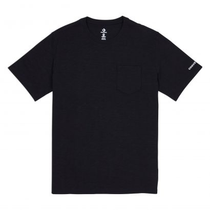 CONVERSE EMBROIDERED WORDMARK TEE – CONVERSE BLACK