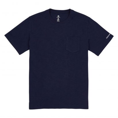 CONVERSE EMBROIDERED WORDMARK TEE – OBSIDIAN