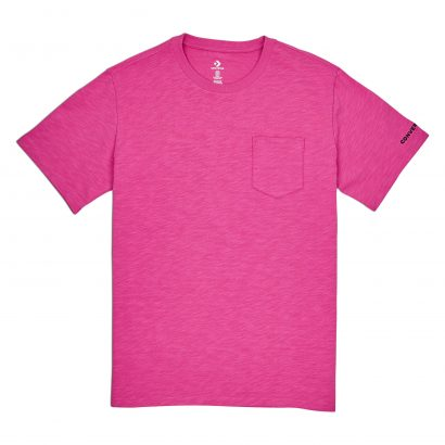 CONVERSE EMBROIDERED WORDMARK TEE – ACTIVE FUCHSIA