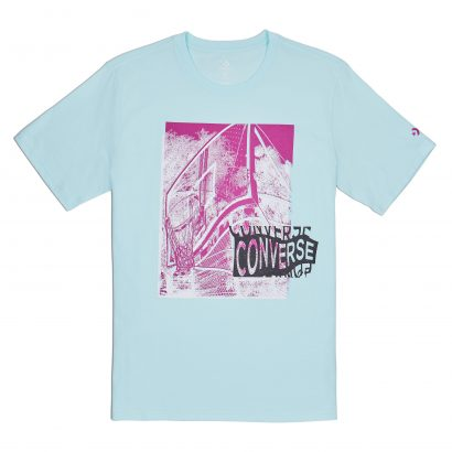 CONVERSE HOOP THERE IT IS PHOTO TEE – TEAL TINT