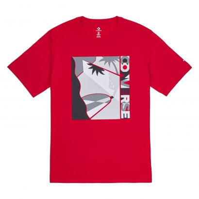 CONVERSE COURTSIDE TEE – ENAMEL RED