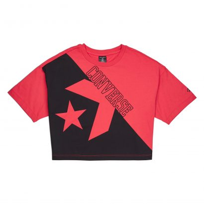 CONVERSE LINEAR WORDMARK BOXY TEE – SEDONA RED