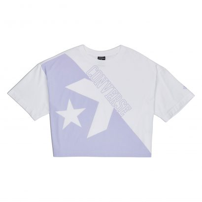 CONVERSE LINEAR WORDMARK BOXY TEE – WHITE