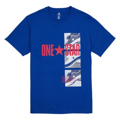 CONVERSE ONE STAR PHOTO SHORT SLEEVE TEE – CONVERSE BLUE