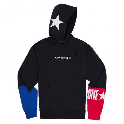CONVERSE ONE STAR BLOCK PACK PO HOODIE – BLACK MULTI