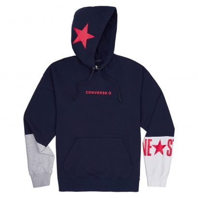 CONVERSE ONE STAR BLOCK PACK PO HOODIE – OBSIDIAN MULTI
