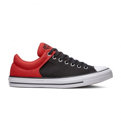CHUCK TAYLOR ALL STAR HIGH STREET COLORBLOCK PATCH – OX – ENAMEL RED/BLACK/WHITE