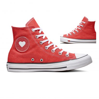 CHUCK TAYLOR ALL STAR DENIM LOVE – HI – SEDONA RED/BLACK/WHITE
