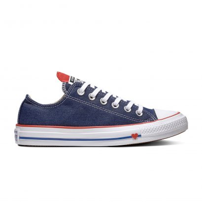 CHUCK TAYLOR ALL STAR DENIM LOVE – OX – INDIGO/ENAMEL RED/WHITE