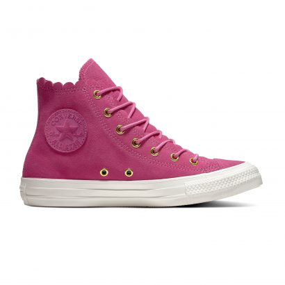 CHUCK TAYLOR ALL STAR FRILLY THRILLS – HI – ACTIVE FUCHSIA/GOLD/EGRET