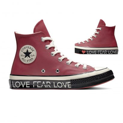 CHUCK 70 LOVE GRAPHIC – HI – RHUBARB/EGRET/BLACK
