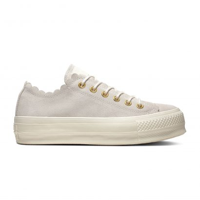 CHUCK TAYLOR ALL STAR FRILLY THRILLS – OX – EGRET/GOLD/EGRET