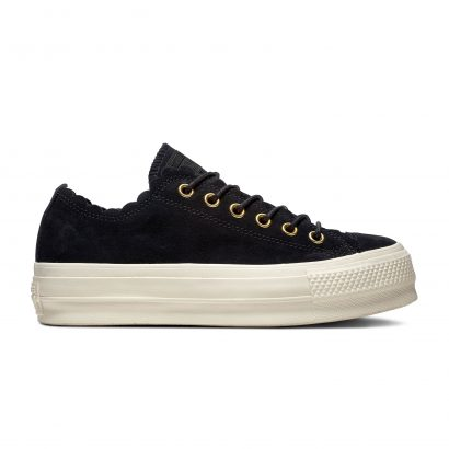 CHUCK TAYLOR ALL STAR FRILLY THRILLS – OX – BLACK/GOLD/EGRET