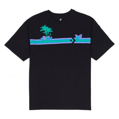 Palm Tree Stripes Boxy Tee