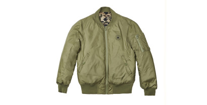 MEN CORE REVERSIBLE MA-1 PUFFER BOMBER JACKET